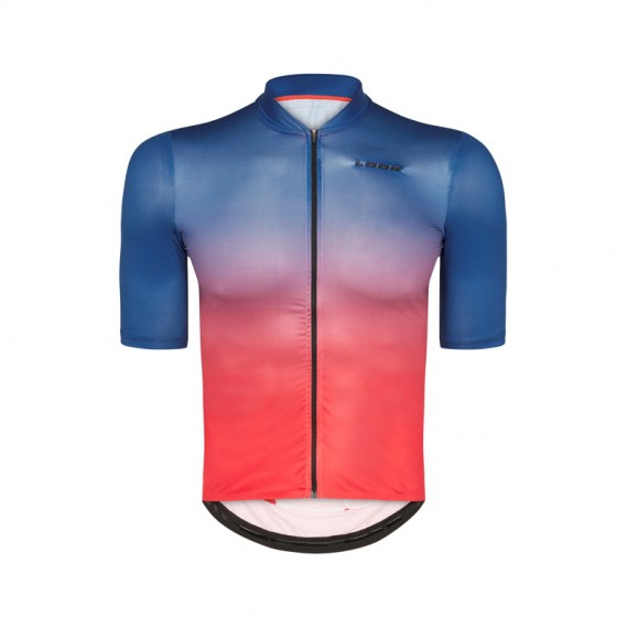 LOOK Trikot KA Fondo L-Weight orange-blau  XXL